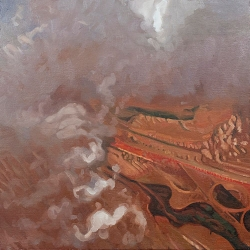 "oil on canvas, 17 x 17"", 2008"